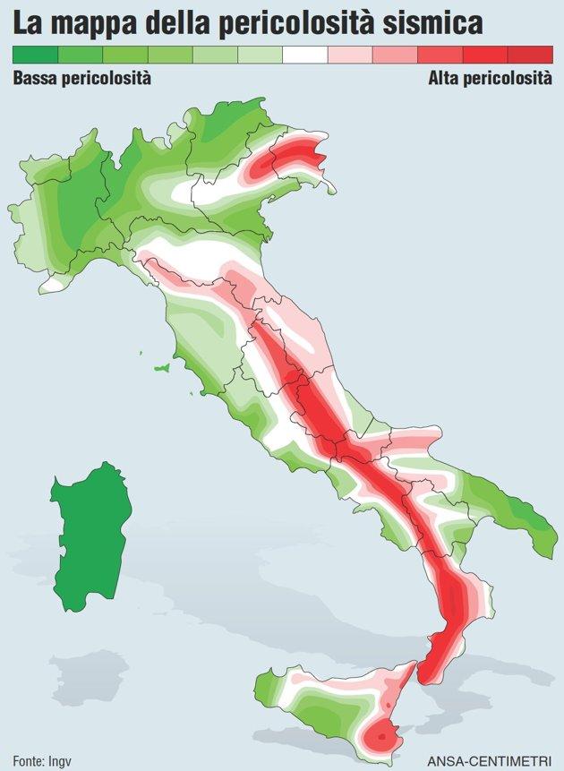 Cartina Italia Terremoti.Mappa Faglie Italia Catetom79